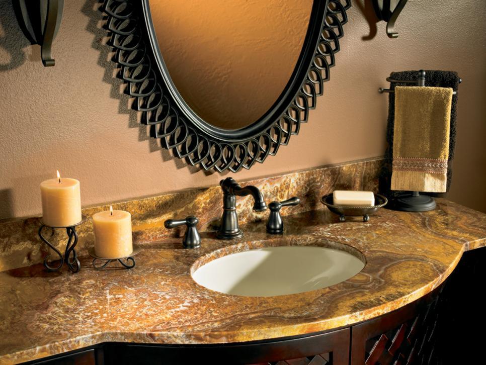 столешница для ванной из натурального камня